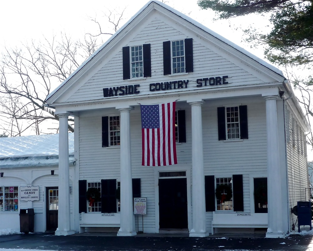 Wayside Inn in Marlborough, Mass., is one of New England's best and most underrated country store, according to VisitingNewEngland.