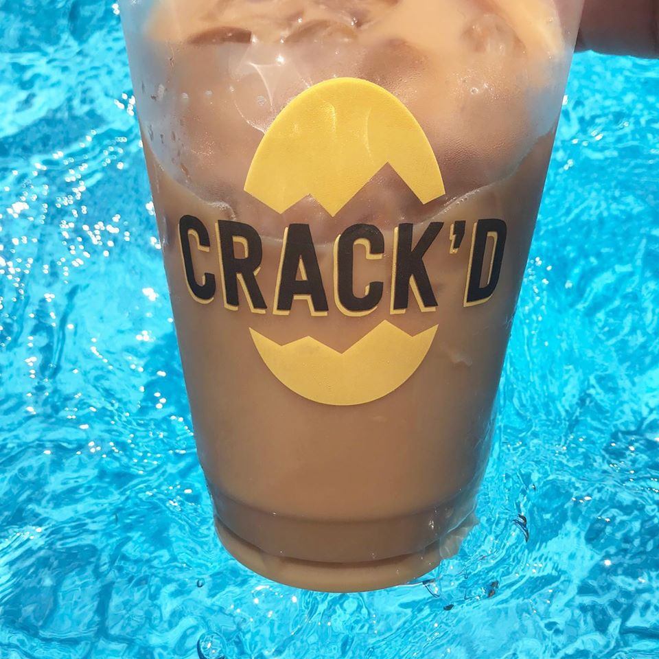 Iced coffee from CRACK'D in Andover, Mass.