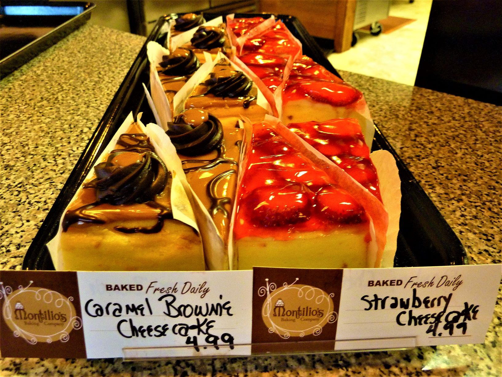 Montilio;s cheesecakes at CRISP in Walpole, Massachusetts.