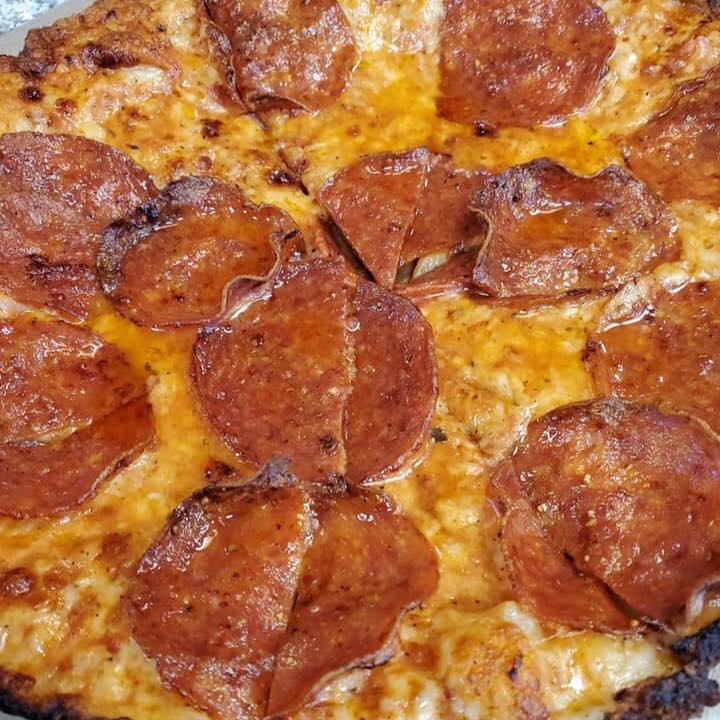 Pepperoni pizza from CRISP in Walpole, Mass.