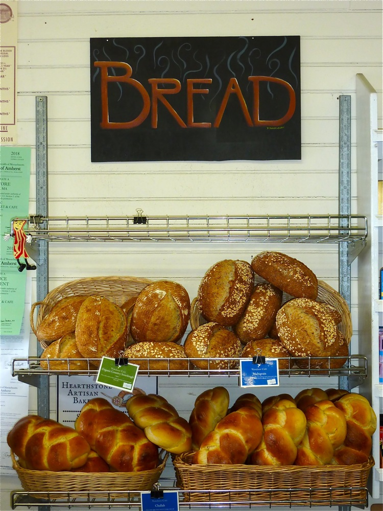 Local homemade bread at Cushman Market and Cafe in Amherst, Massachusetts.