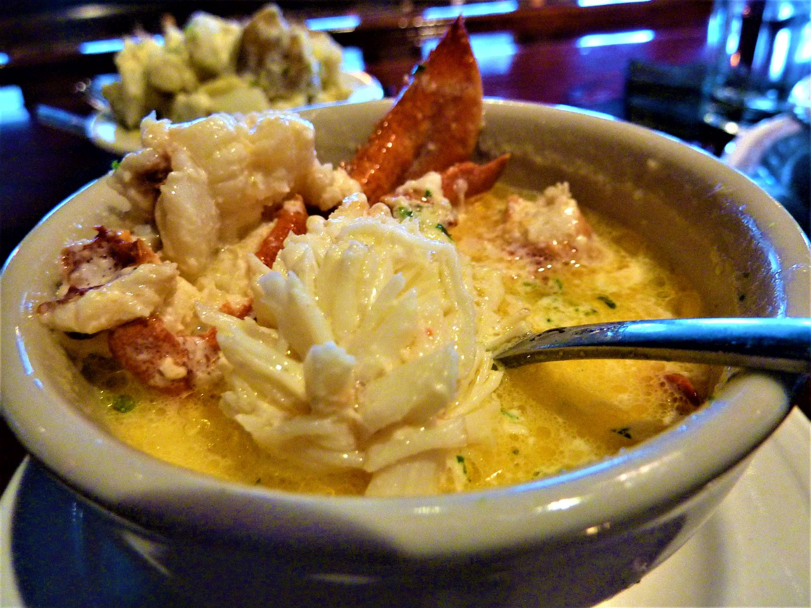 Lobster bisque from DiMillo's On The Water in Portland, Maine.