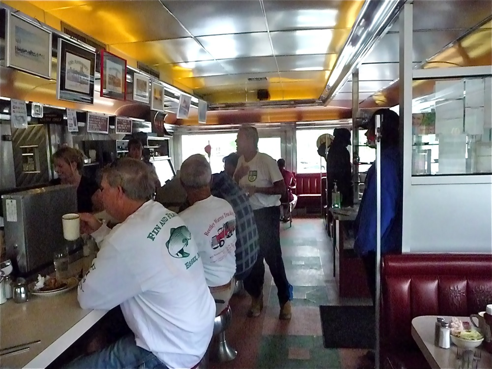 Inside of Agawam Diner in Rowley, Mass.