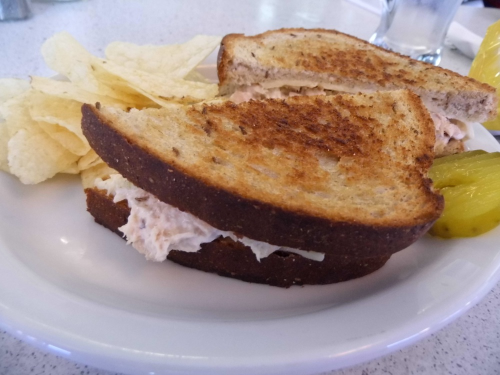 Tuna melt sandwich from Cindy's Diner in North Scituate, Rhode Island.