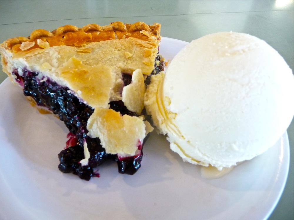 Blueberry pie from the Whatley Diner in Whatley, Massachusetts.