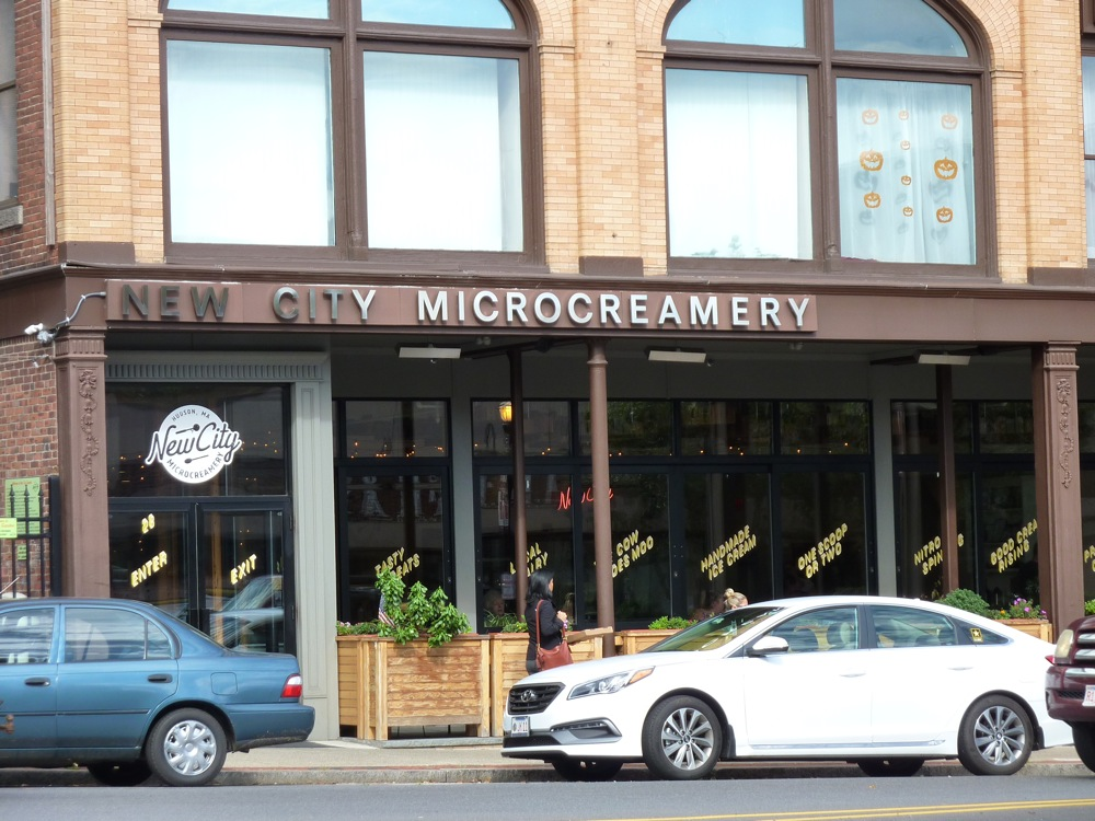 New City Microcreamery ice cream shop in downtown Hudson, Mass.