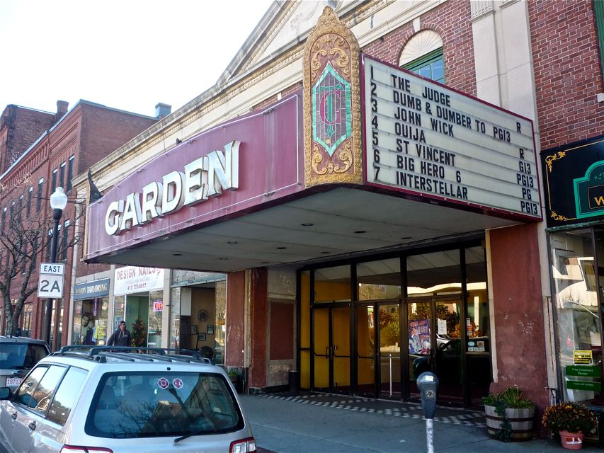 Downtown Greenfield MA movie theater