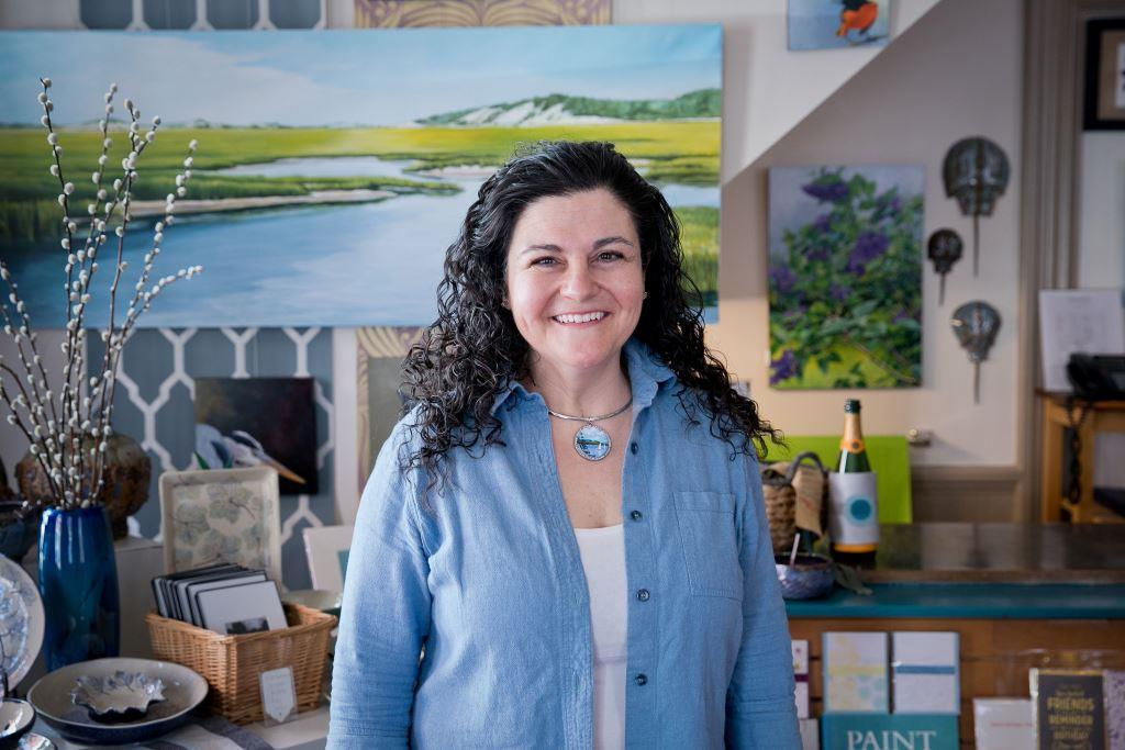 Anthi Frangiadis, owner of The Drawing Room at Anthi Fragiadis Associates in New Bedford, Massachusetts