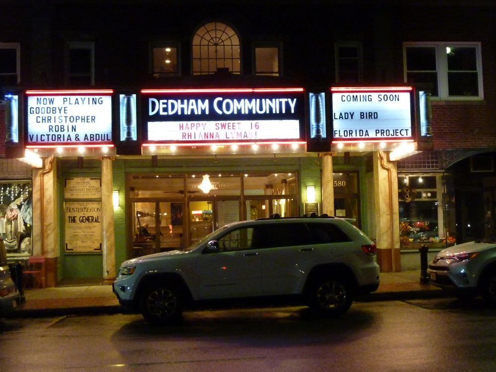 Old-time but restored Dedham Community Theater in Dedham, Massachusetts.