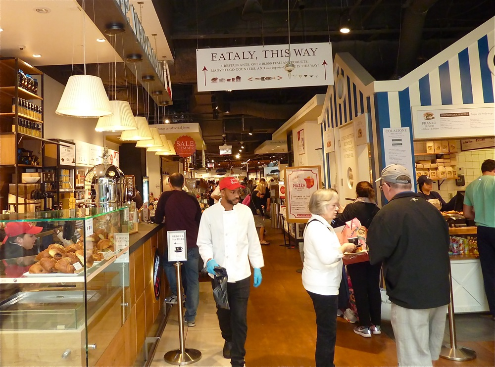Eataly Boston is an Italian Marketplace located at the Prudential Center in Boston, Massachusetts.