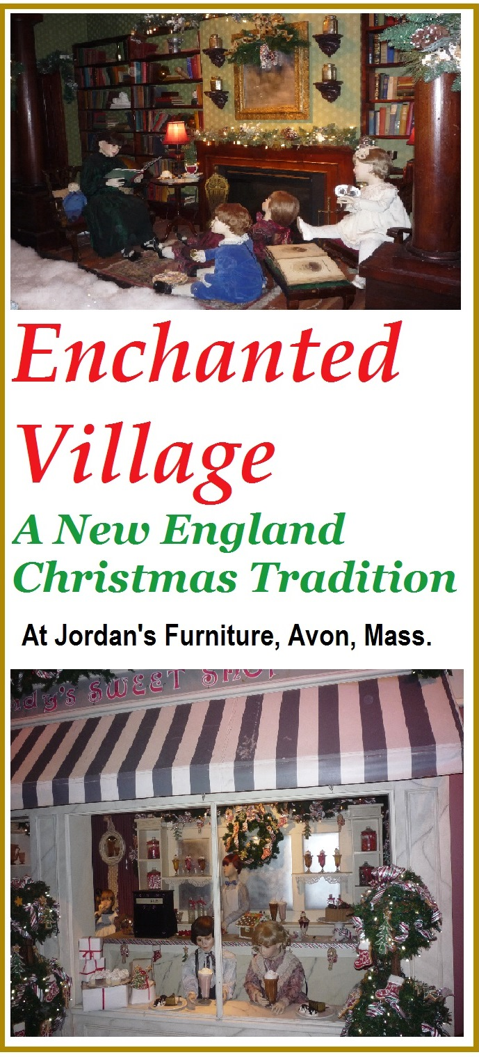 Enchanted Village is a wonderful, traditional New England Christmas attraction family destination, now showcased at Jordan's Furniture in Avon, Mass.