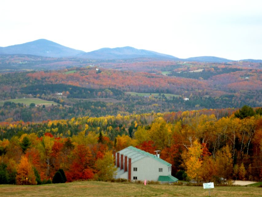 Fall foliage from Burke Mountain VT