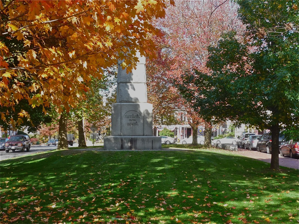 Fall Foliage at Monuyment Square, Concord MA
