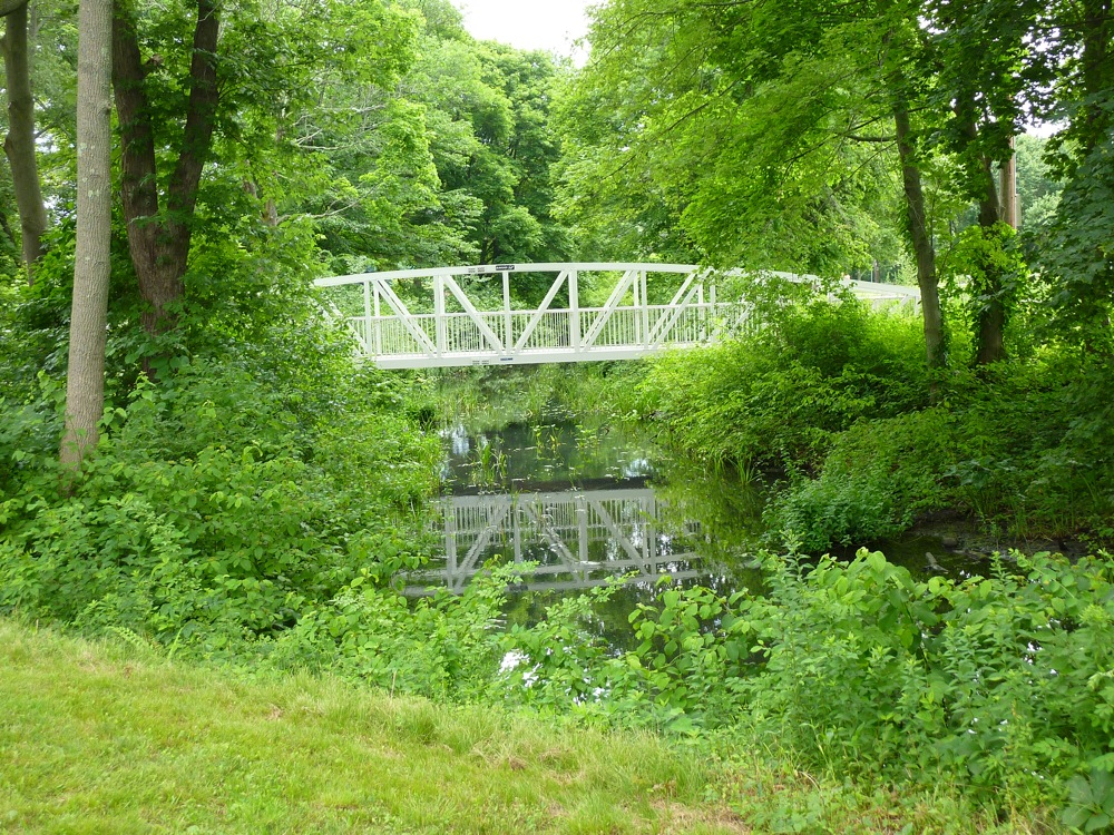 Bridge to Nowhere at Springbrook Park in Walpole, Mass.