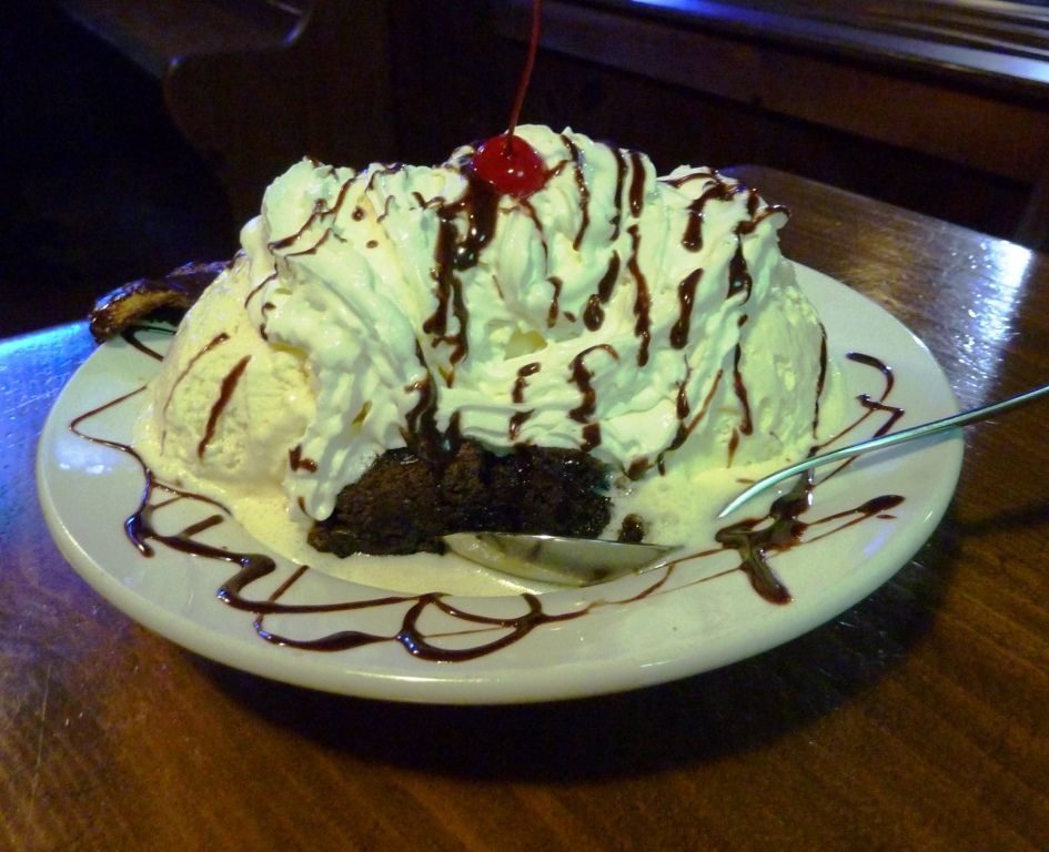 Guinness brownie sundae from Father's Kitchen & Taphouse in Sandwich, Mass.