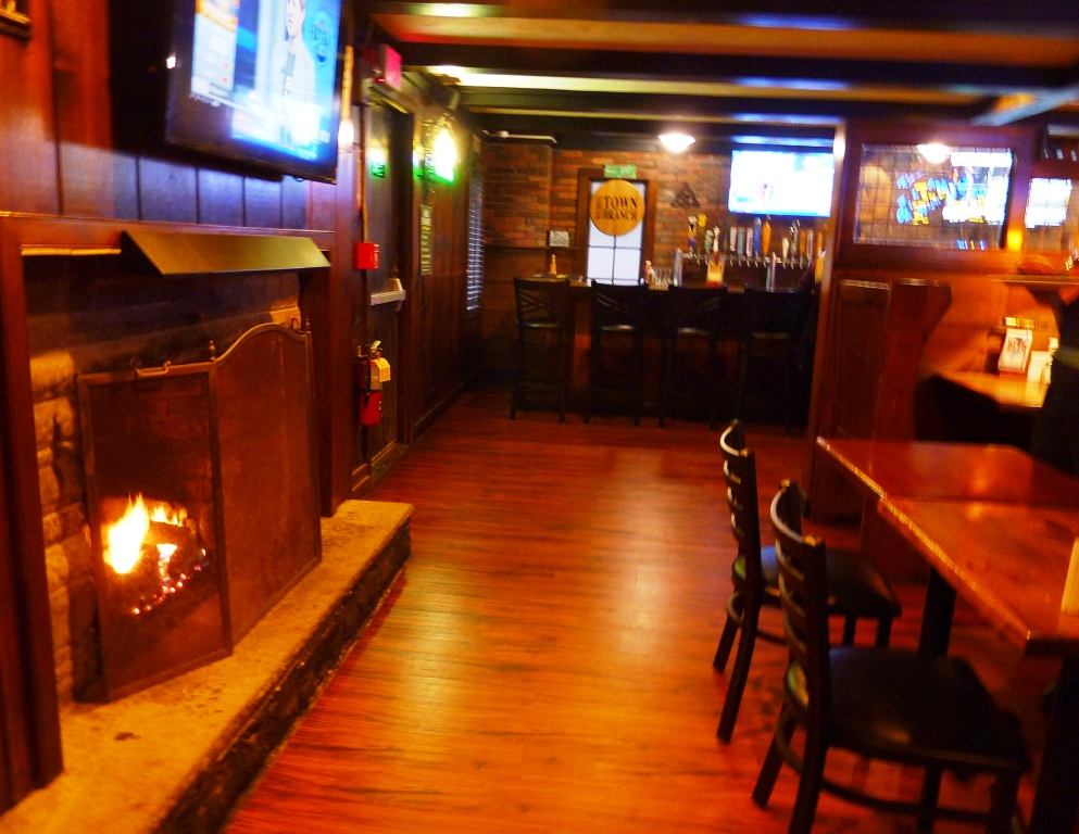 Fireplace at Father's Kitchen & Taphouse in Sandwich, Mass.