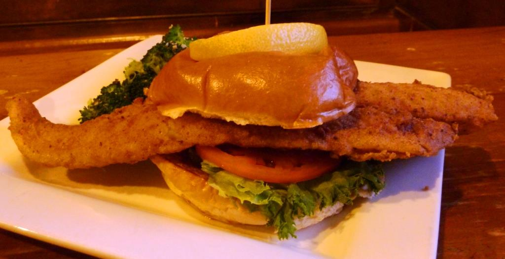 Huge fish haddock sandwich from Father's Kitchen & Taphouse in Sandwich, Mass.