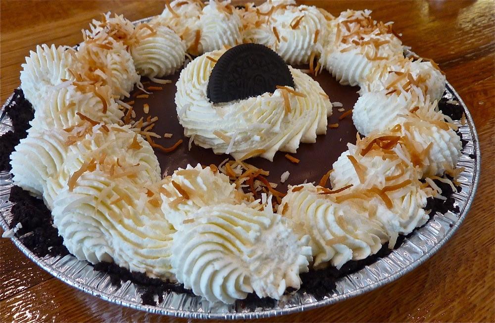 Oreo coconut cream pie from Flaky Crust Pies in Norton, Mass.