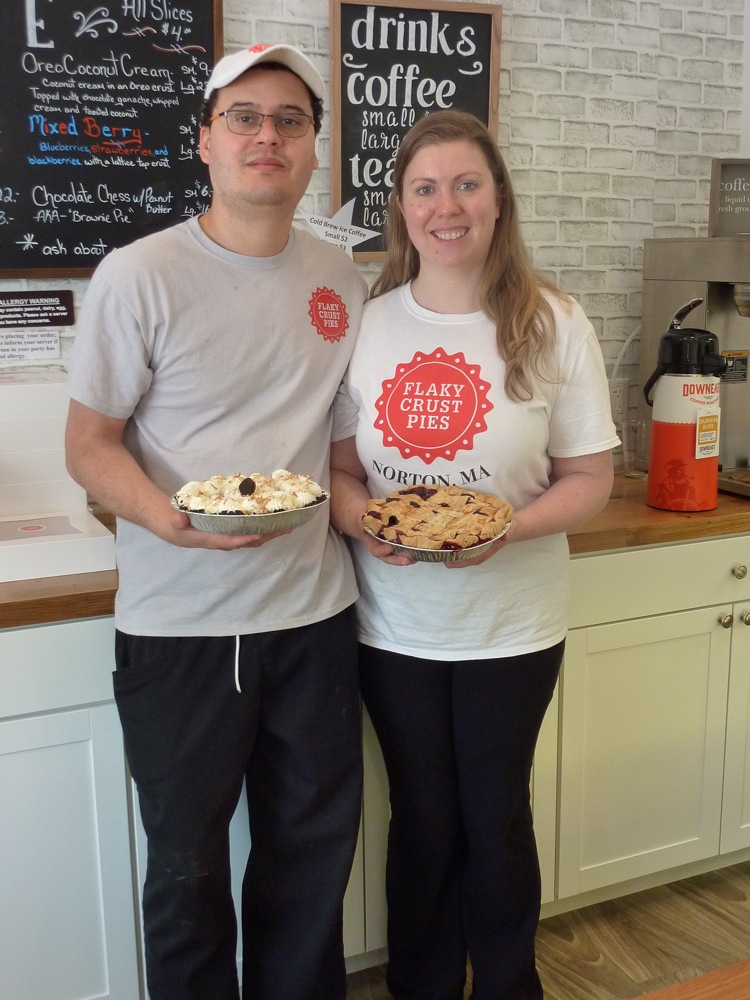 Ashley Nichols and husband Andres at Flaky Crust Pies in Norton, Massachusetts.
