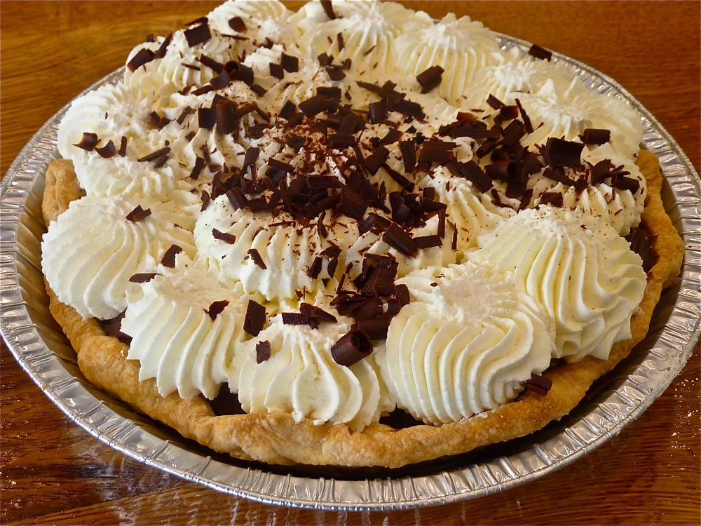 Chocolate cream pie from Flaky Crust Pies in Norton, Mass.