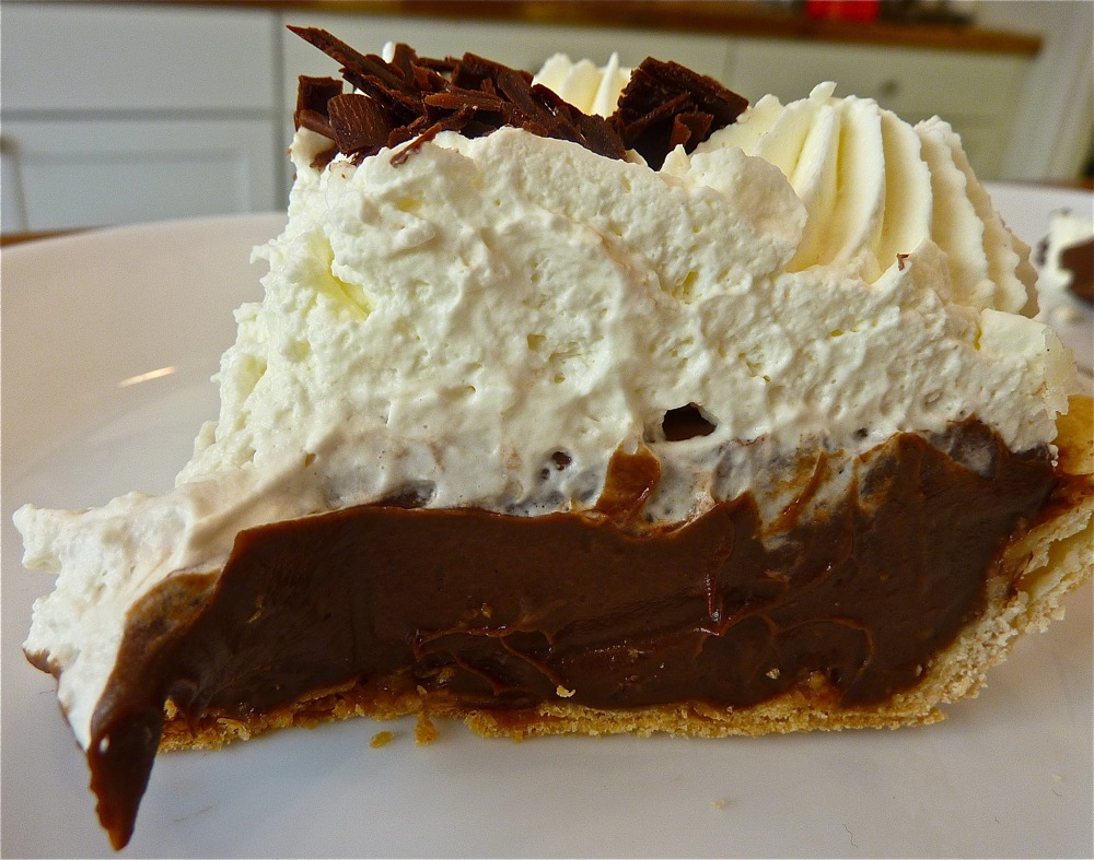 Chocolate mousse pie frm Flaky Crust Pies in Norton, Mass.