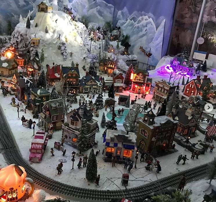 Christmas village display at Four Seas Ice Cream in Centerville, Mass.