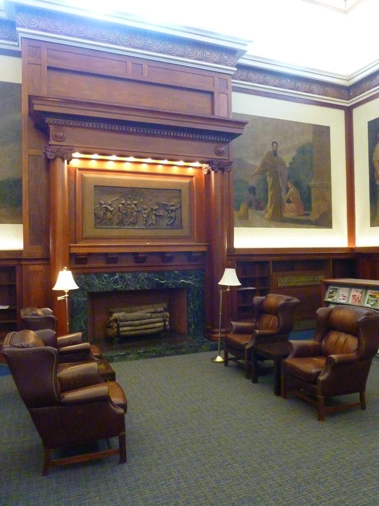 The Historic Franklin Public Library In Franklin Ma