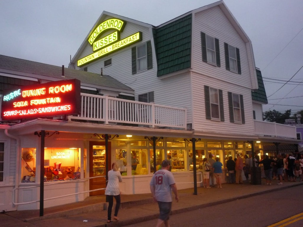 Famous salt water taffy destination: The Goldenrod in York Beach, Maine.
