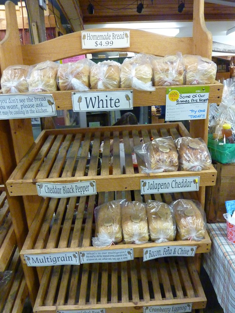 Homemade breads at Hager's Farm Market in Shelburne, Mass.