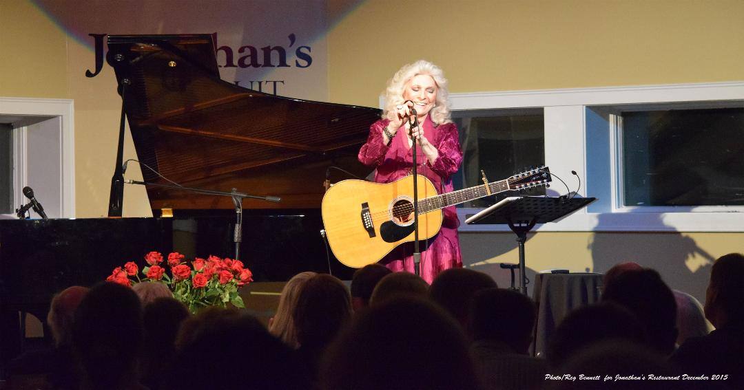 Folk music legend Judy Collins performing at Jonathan's Restaurant in Ogunquit, Maine.