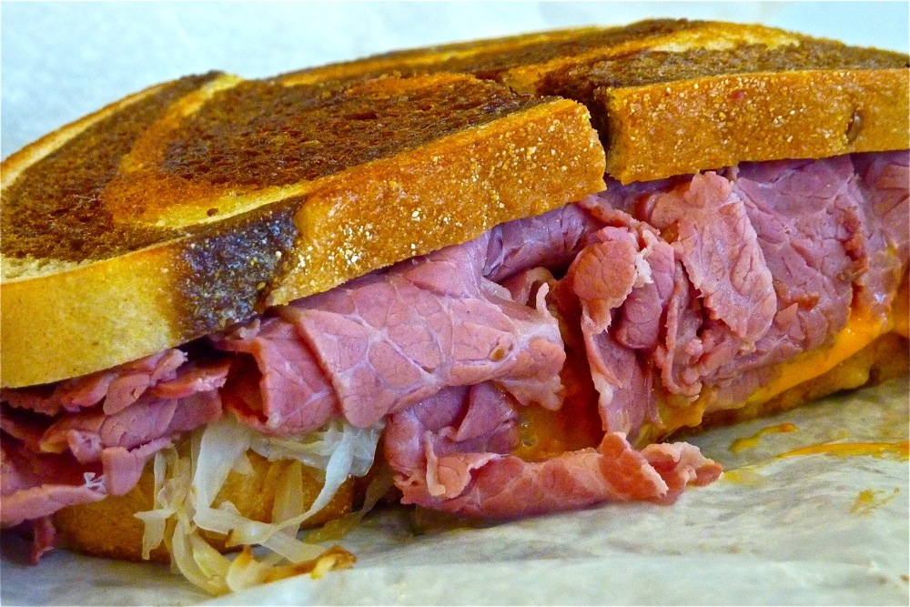 Reuben sandwich to die for at Ken's NY Deli and Brick Oven Pizzeria in Bedford, Mass.