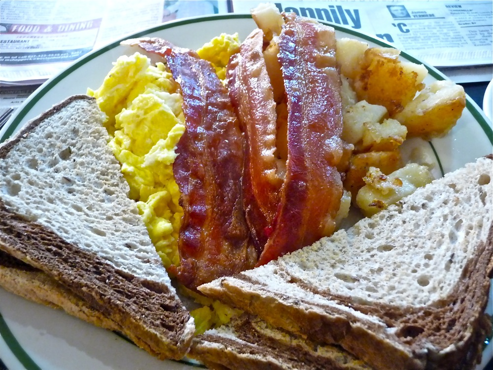 Breakfast at the King Street Cafe on the Charles in Millis, Massachusetts