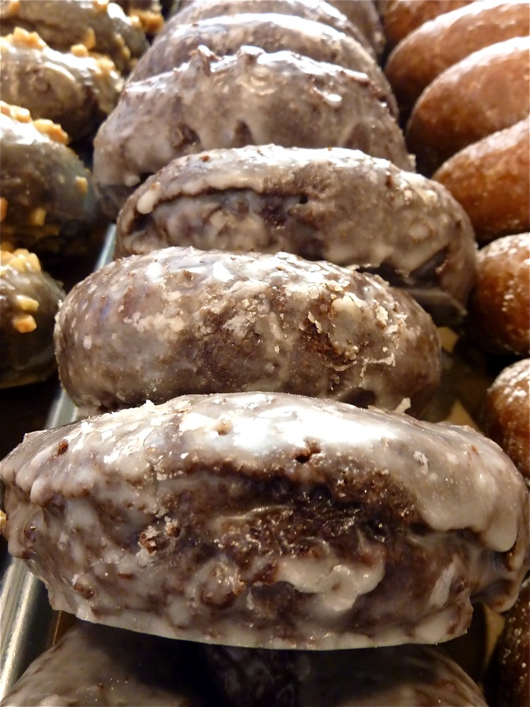 Chocolate doughnuts from Knead Doughnuts in Providence, RI.