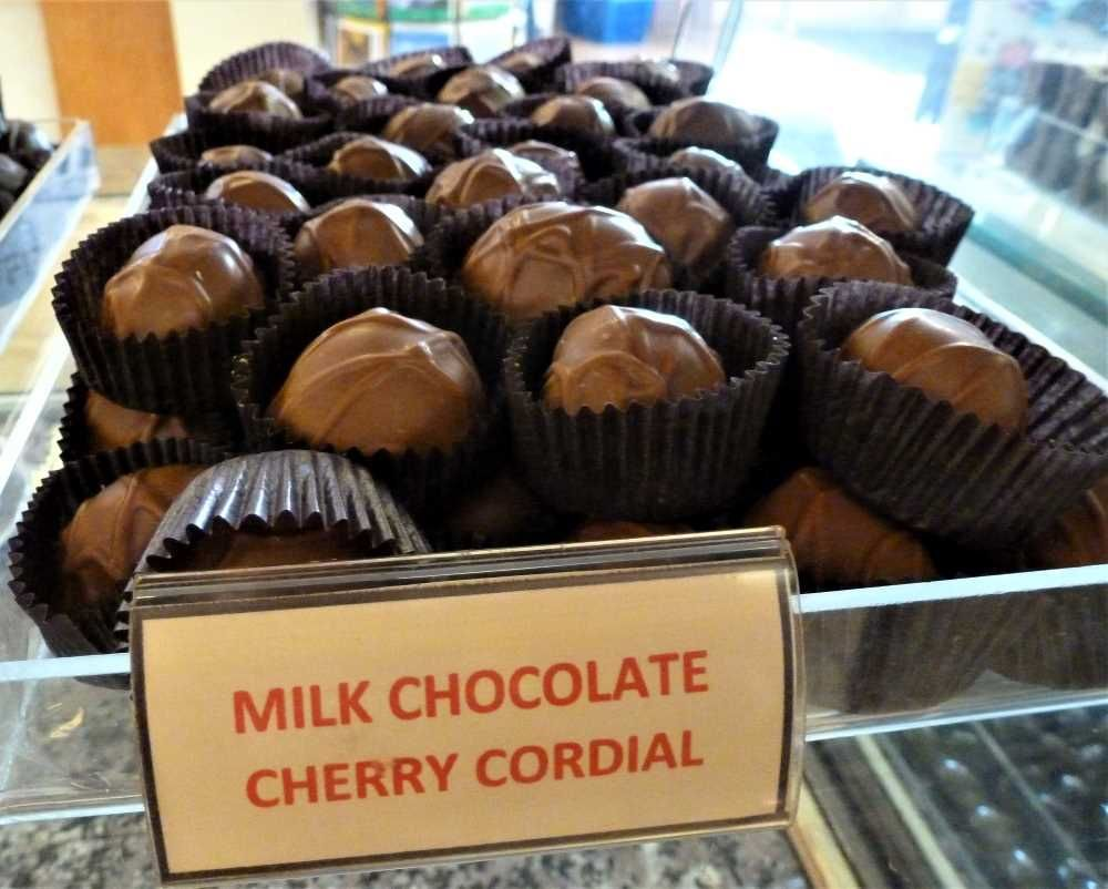 Milk chocolate cherry cordial from Len Libby Candies in Scarborough, Maine