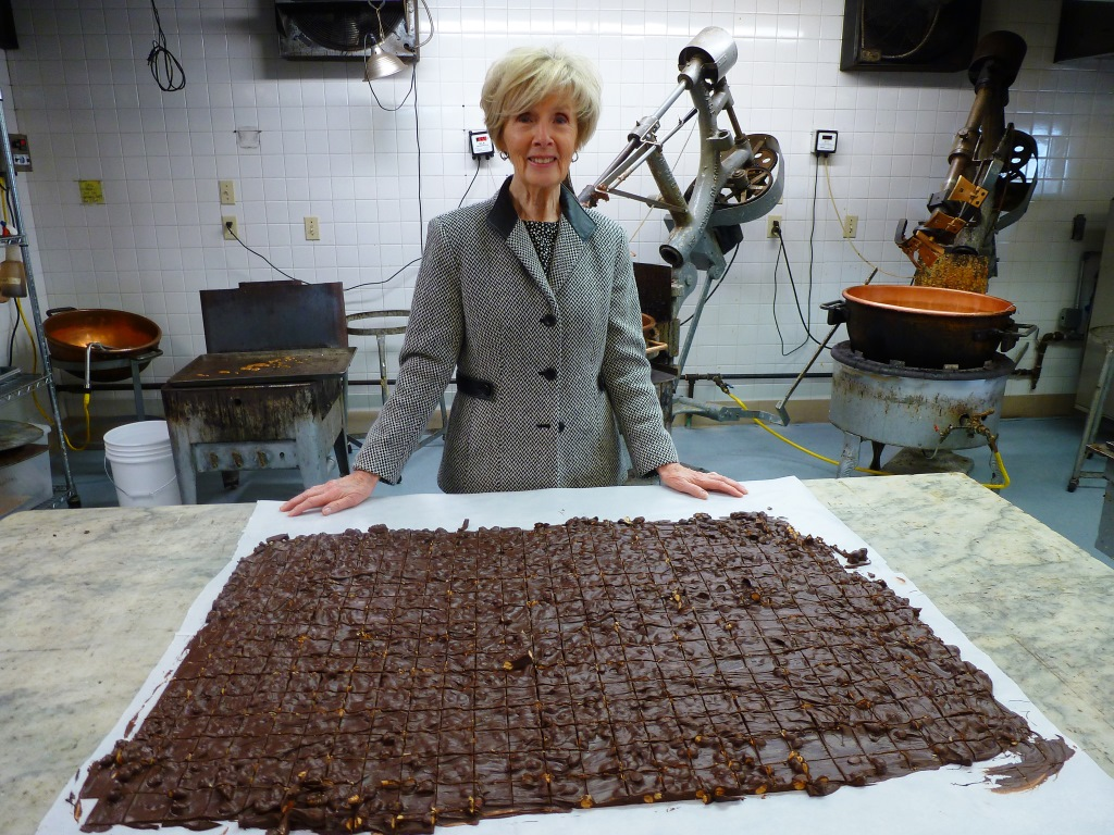 Maureen Hemond, of Len Libby Candies in Scarborough, Maine.