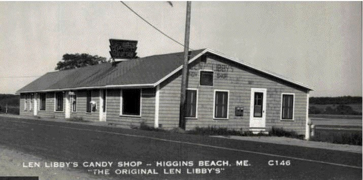 The original Len Libby Candies at Higgins Beach in Scarborough, Maine.