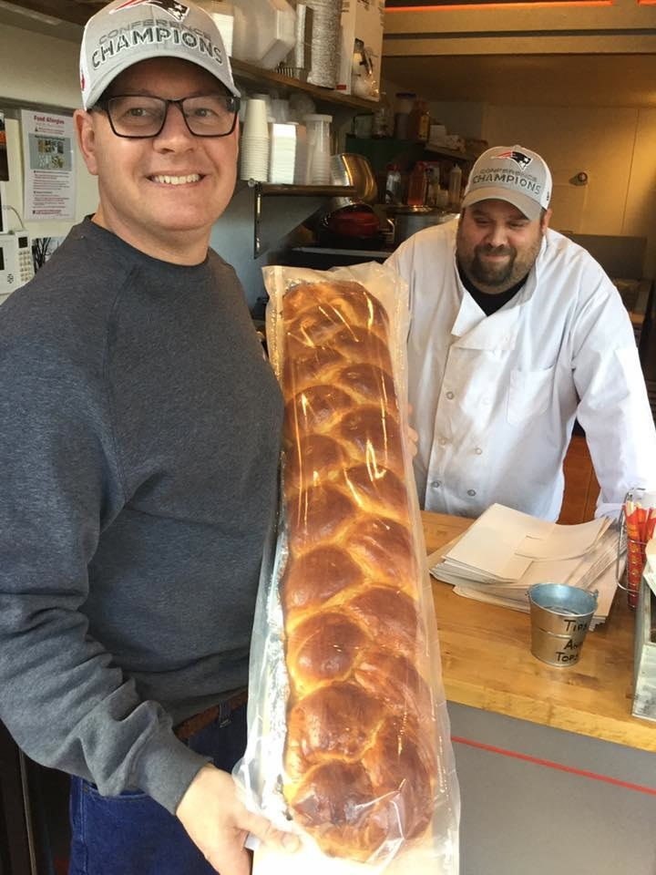 Challah bread used for lobster rolls at Lobstah On A Roll in Salem and Boston, Mass.