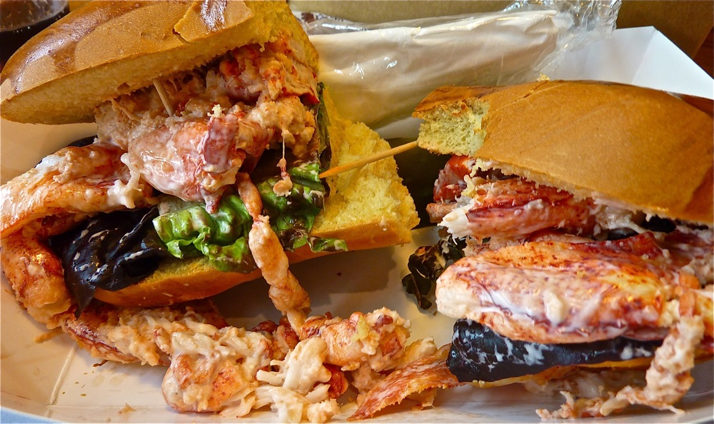 Huge lobster roll from Lobstah On A Roll in Boston and Salem, Mass.