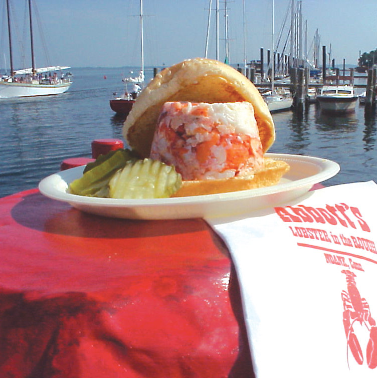 Lobster roll from Abbott's Lobster in the Rough, Noank CT