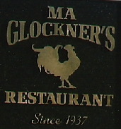 Ma Glockner's chicken sign photo