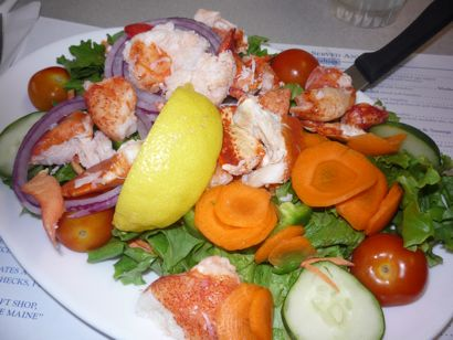 Maine Diner lobster salad plate photo