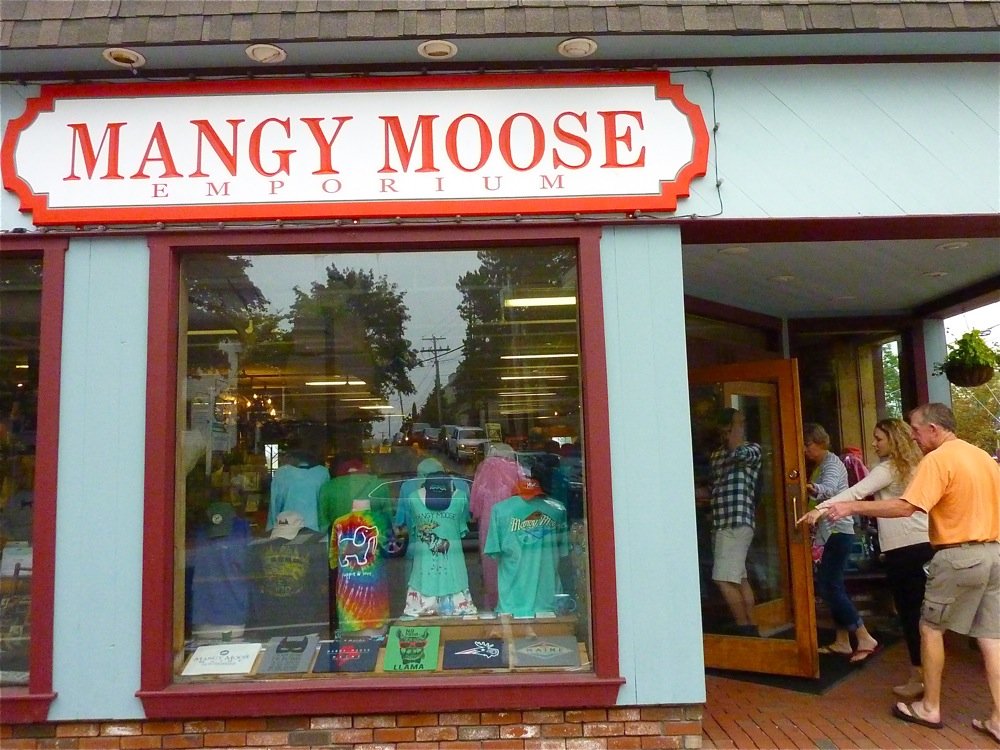 Mangy Moose, Freeport, Maine, is a retail store dedicated to moose merchandise.