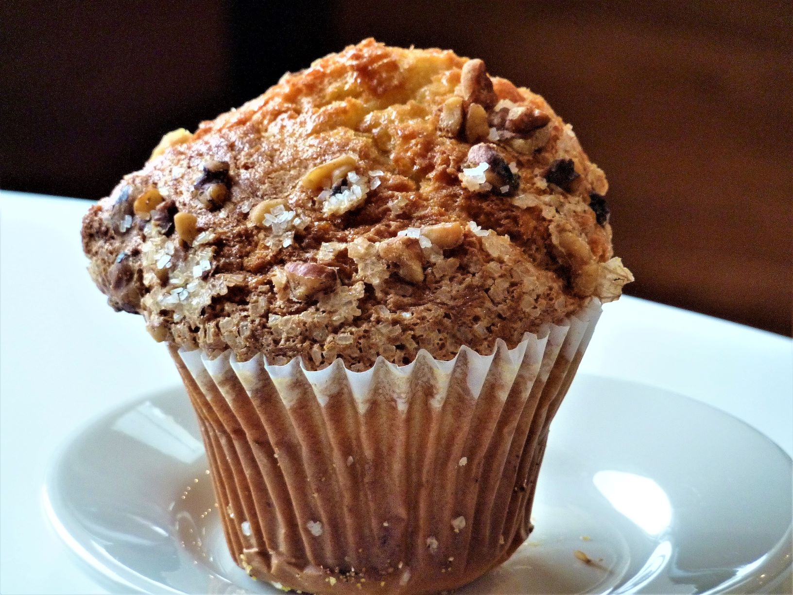 Banana nut muffin from Millis Clicquot Coffee in Millis, , Mass.