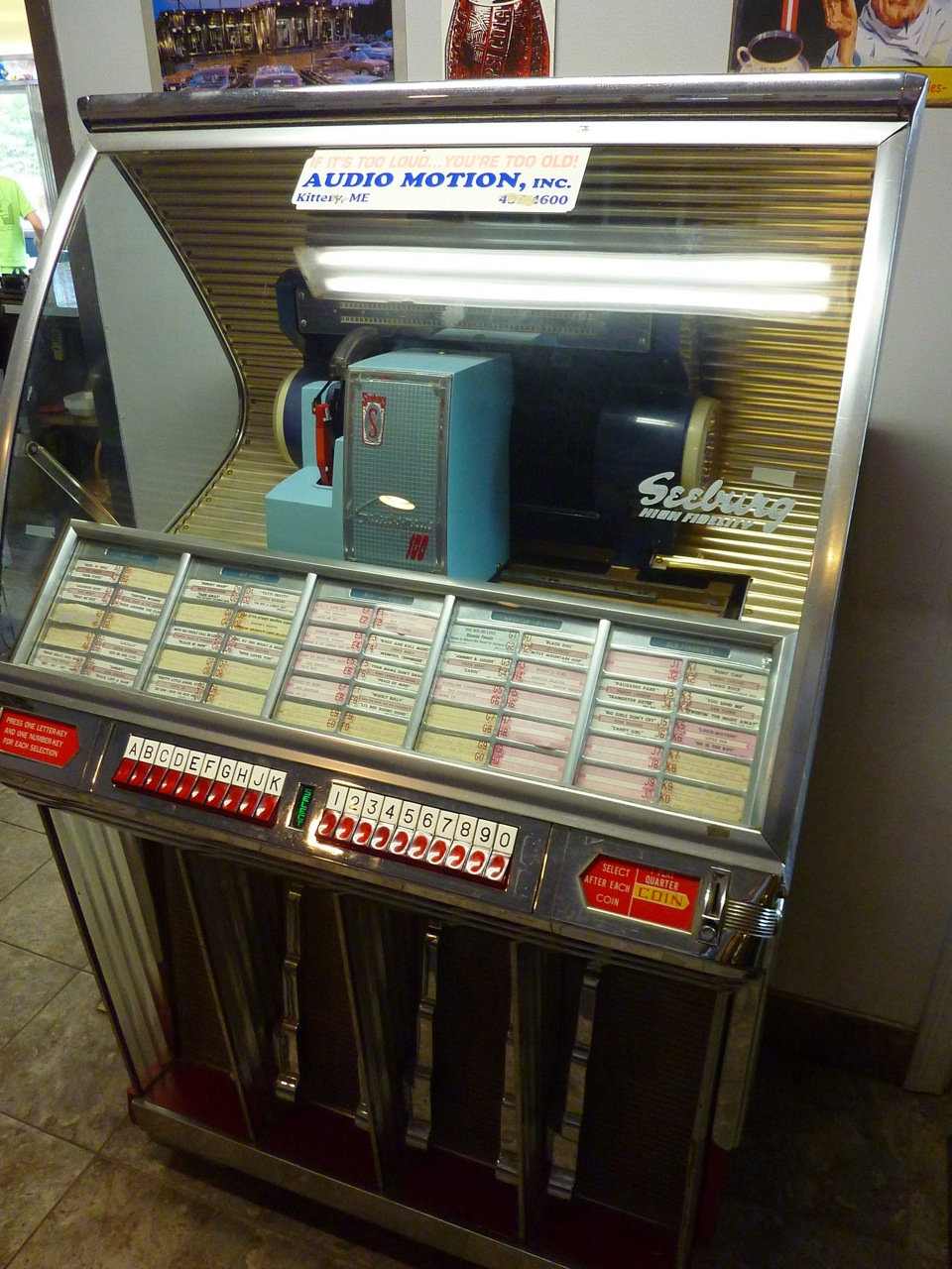 Old-time jukebox at the Miss Wakefield Diner in Sanbornville, N.H.