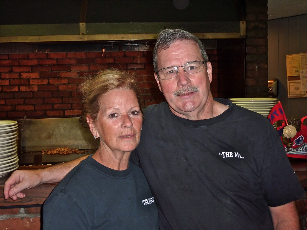 Dave and Sheila Monaghan, of the Mug 'n Muffin restaurant in Norwood MA
