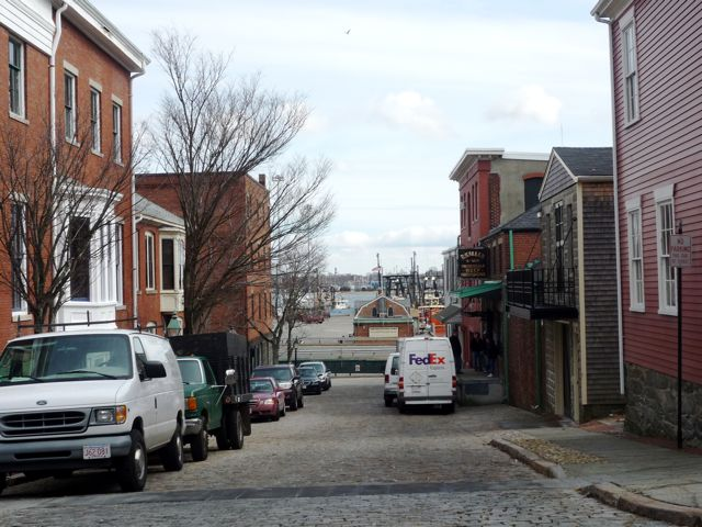 New Bedford, MA,: historic Whaling District street