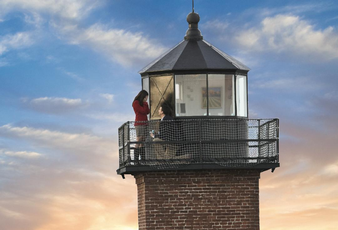 Dining at the top of a New England lighthouse...