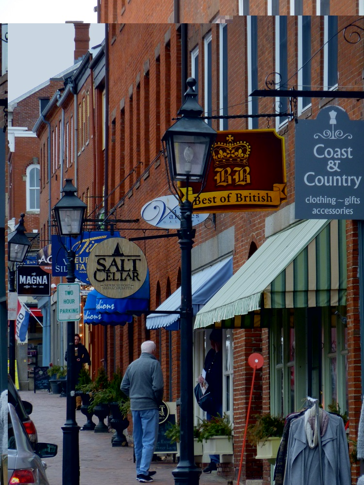 Walking State Street in historic, coastal downtown Newburyport, Massachusetts