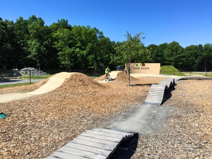 Bike park at Normandy Farms Campground in Foxborough, Mass.