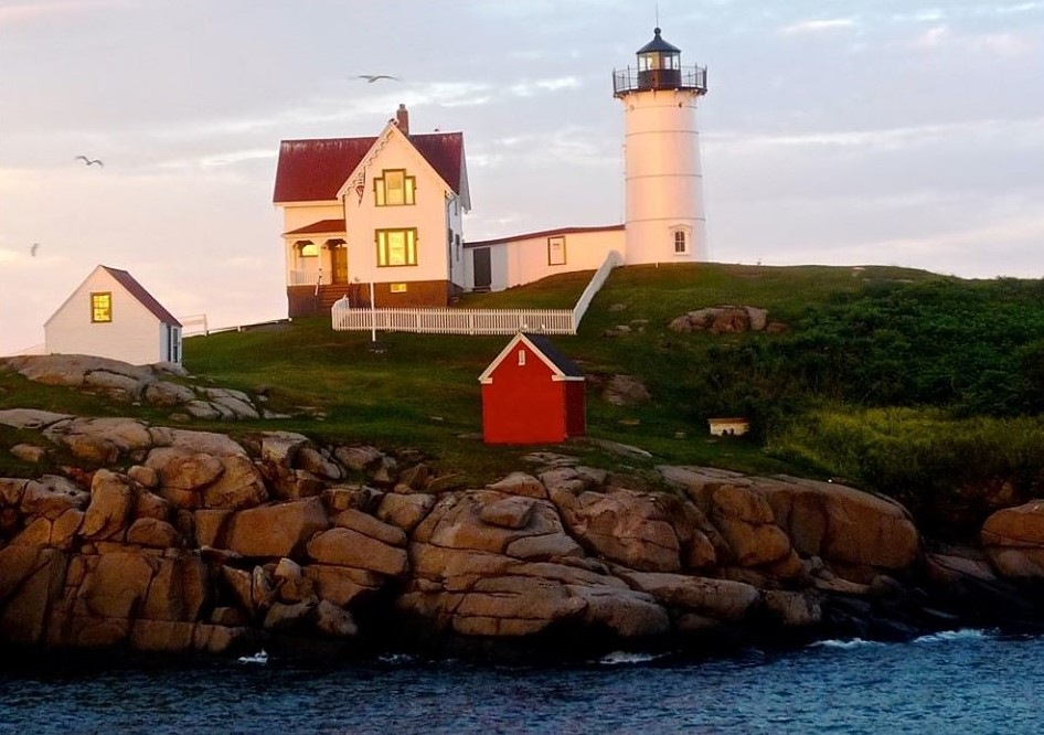 Taking in the beauty of Nubble Lighthouse in York Beach, Maine.